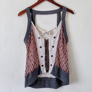 BKE Mixed Material Vest